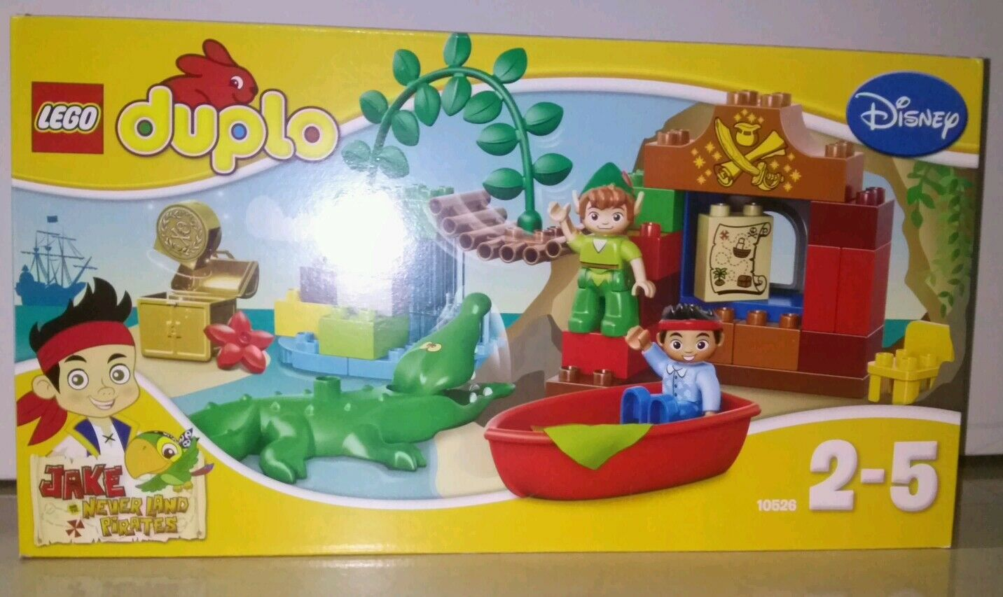 LEGO Duple 10526 Peter Pan s Besök (svår att hitta) fri flygagagpost