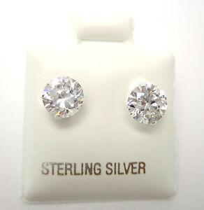 1 Paar Mini Ohrstecker Brilli Silber 925 Zirkonia Stein 5mm Neu