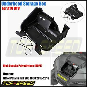 ATV-UTV-Black-Underhood-Storage-Box-Case-For-Polaris-RZR-900-RZR-1000-2015-2016