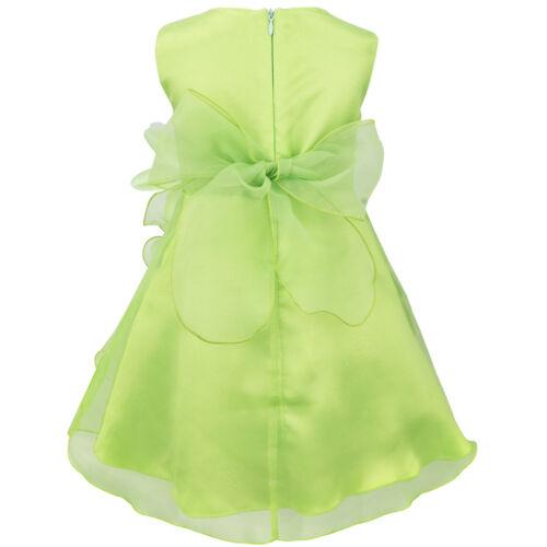 US Flower Girl Dress Toddler Princess Formal Pageant Holiday Wedding Bridesmaid