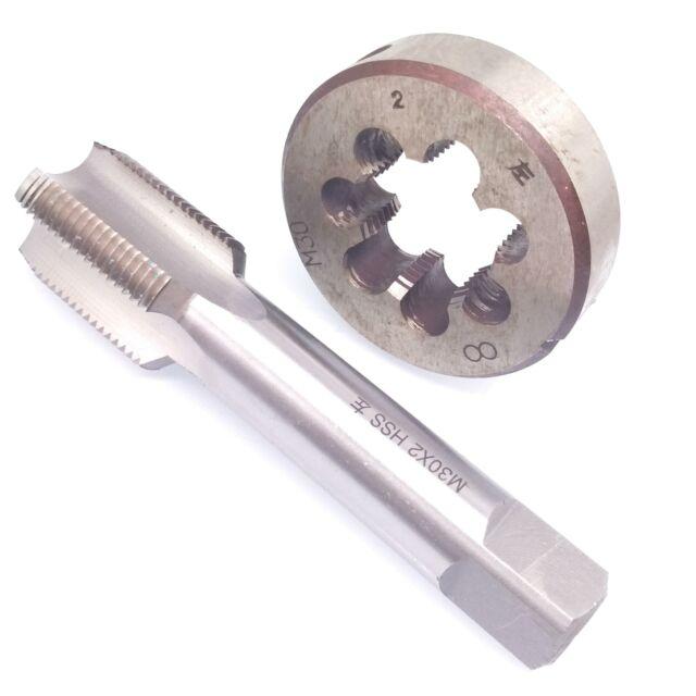 1pc HSS M16 X 2mm Plug Left Tap and 1pc M16 X 2mm Left Die Threading Tool