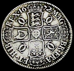 S861-1672-Charles-II-Large-Silver-Full-Crown-V-QVARTO-Spink-3358