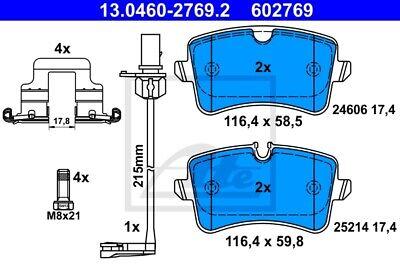 Bremsbelagsatz Scheibenbremse Vorderachse für VW Transporter BB08098