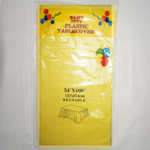 """54/""""x108/"""" nappes parti-beaucoup de couleurs! 12 X Plastique Oblong Nappe"""