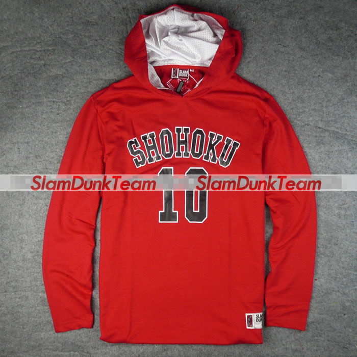 SLAM DUNK Shohoku School Team Sakuragi Hoodie Hooded Sweatshirt Sweater RED