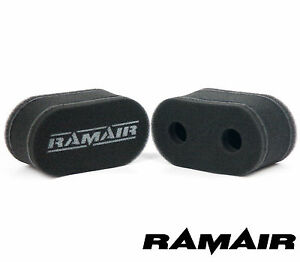 2-x-RAMAIR-Carb-Sock-Air-Filters-Corsa-Kadett-1-2-1-3-arch-port-Weber-40-DCOE