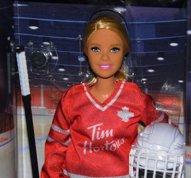 Tim Horton's Barbie NRFB Hockey Player Blonde Mattel Tim Horton Canada