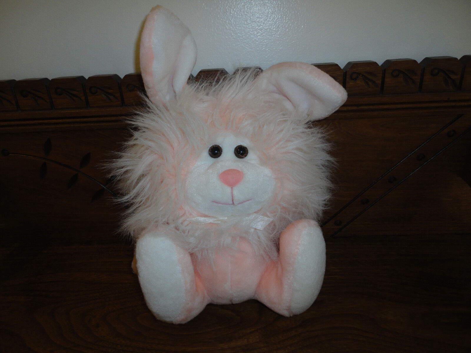 24K Mighty Star CHET Bunny Rabbit Peach Plush Toy 8 Inch 7464 Vintage 1991