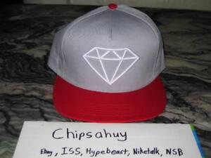 cd660617a98f77 Diamond Supply Co Snapback Grey Red Hat Cap Rock USA DS OSFA | eBay