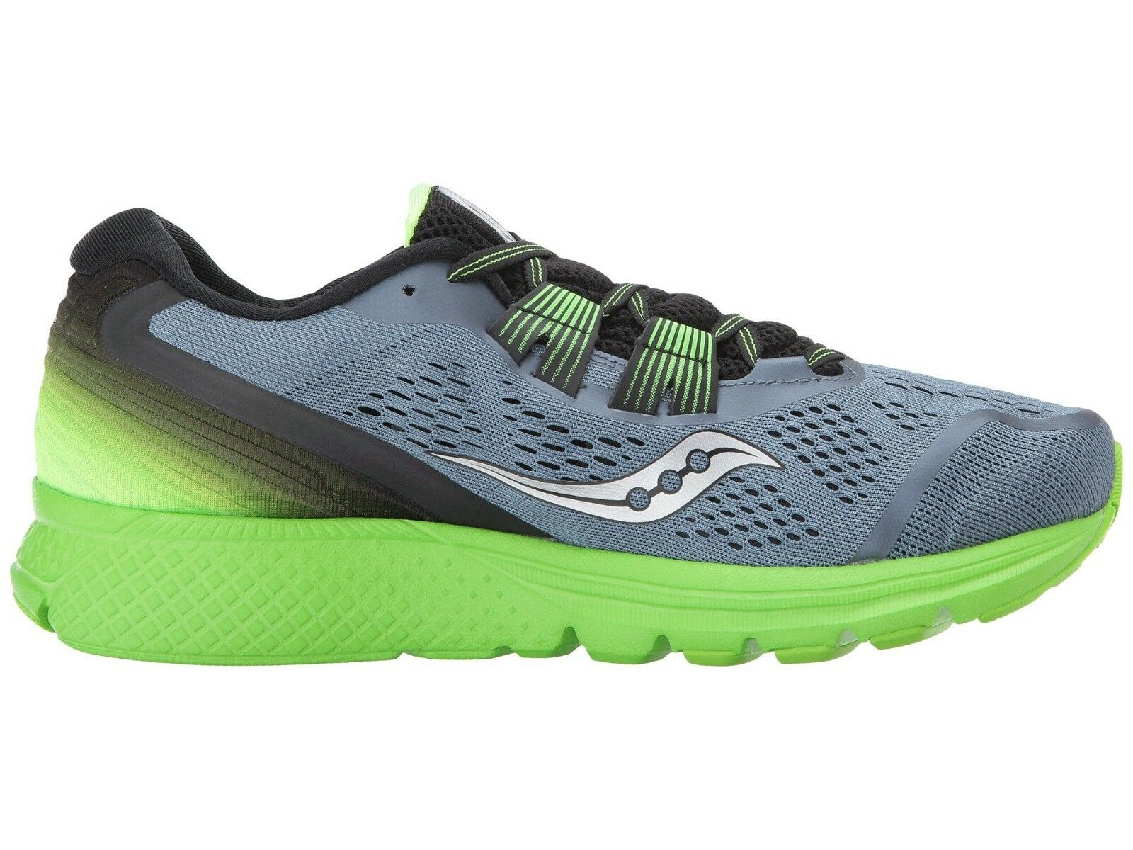 Saucony Zealot ISO3 Men's Running shoes shoes shoes Grey Black Slime Size 12 NEW IN BOX 0afc21