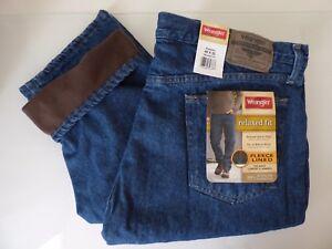 Wrangler-Fleece-Lined-Relaxed-Fit-Jean-Winter-Men-039-s-Size-W29-W42