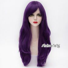 My Little Pony Rarity Purple Wavy Long Women Cosplay Synthetic Hair Wig 70CM