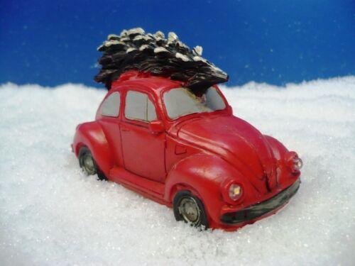mit bel LUVILLE Käfer Modellbau, rot Weihnachtsdorf Scheinwerfern