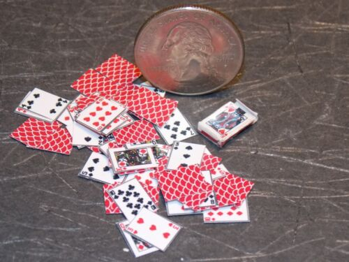 Dollhouse Miniature Playing Cards /& box 1:12 one inch scale H14 Dollys Gallery