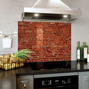 Dettagli Su Vetro Splashback Cucina Bagno Qualsiasi Dimensione Old Red Brick Wall Texture 0423 Mostra Il Titolo Originale