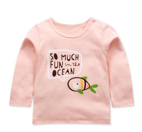 baby kids girls clothes boys long sleeve T shirt baby cotton top base shirt