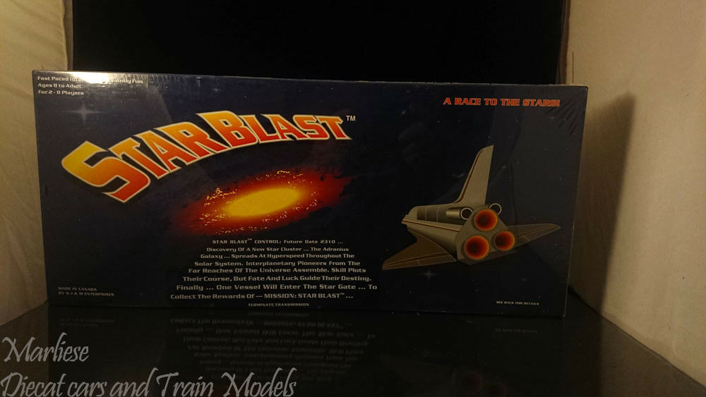 Vintage Starblast _A Race to The Stars Board Game Nuovo sealed Signed _Rare