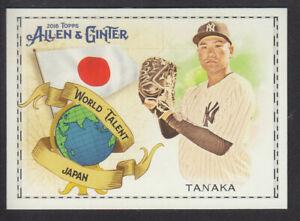 Topps-Allen-amp-Ginter-2018-World-Talent-WT-23-M-Tanaka-New-York-Yankees