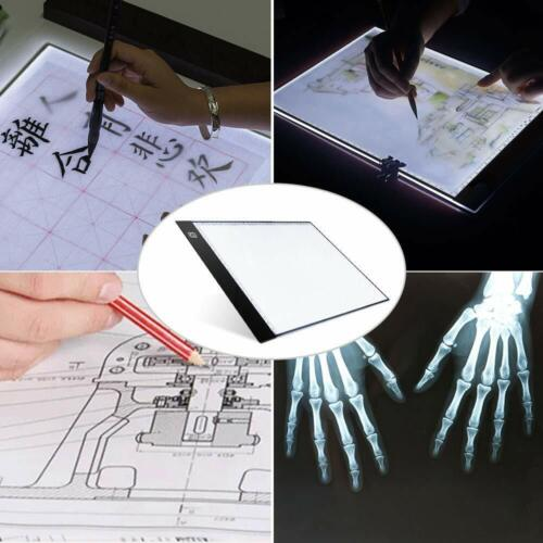 A4 LED Tracing Light Box 5D Diamond Light Board Copy Pad USB Drawing Painting US