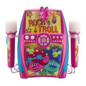 Ekids Trolls Deluxe - Boom-box Karaoké Singalong Deluxe avec double microphone 92298927015