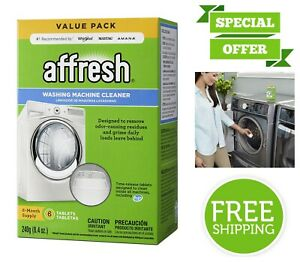 Affresh Washer Machine Cleaner 6 Tablets Time Release ...