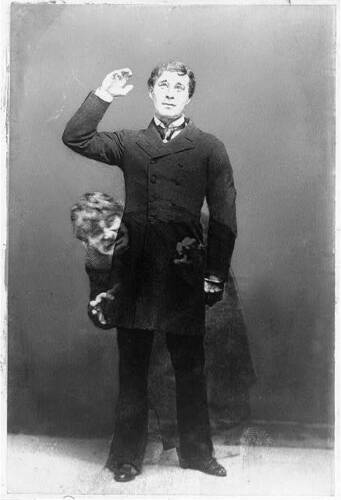 Jekyll and Mr Hyde,Trick Photograph,superimposed,c1900 Richard Mansfield,Dr