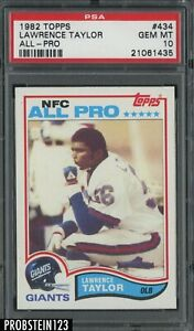 1982 Topps Football #434 Lawrence Taylor All-Pro RC Rookie HOF PSA 10 PACK FRESH