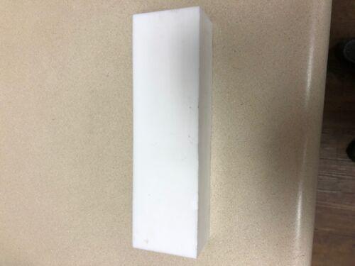 2 Blocks Each 9x2.5x2 Teflon Block  PTFE White