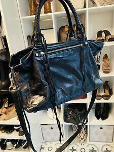 Rebecca-Minkoff-Reagan-Black-Leather-Satchel