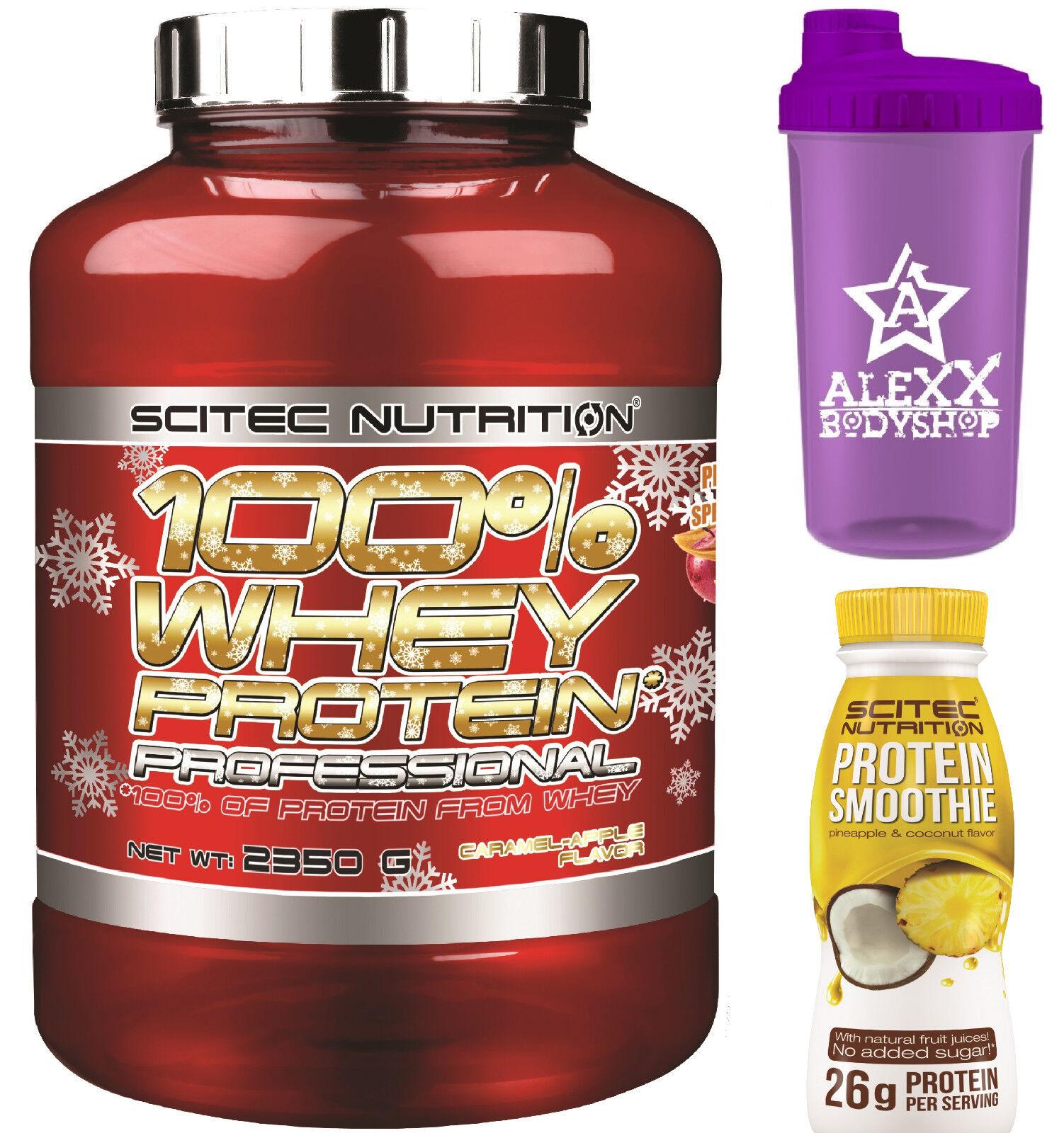 Scitec Nutrition 100% Whey Smoothie Protein Prof. 2350g + Protein Smoothie Whey 330ml + Shaker 7ad660