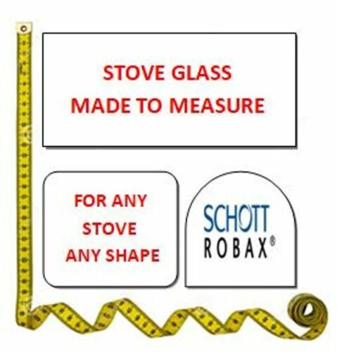 Heat Resistant Stove Glass Measuring 185mm x 250mm x 4mm thick For log burner