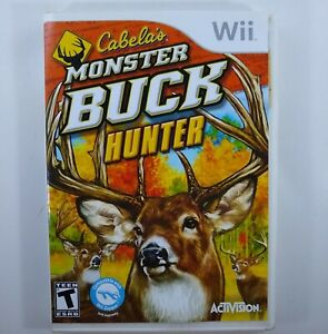 Wii-Cabela-039-s-Monster-Buck-Hunter-w-Manual-CIB-Game-Only-No-Gun-Nintendo