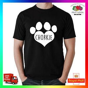 Chorkie-T-Shirt-Tee-Camiseta-Impreso-I-LOVE-Corazon-Paw-Perro-Mascota-Cachorro-Chihuahua-Yorkie