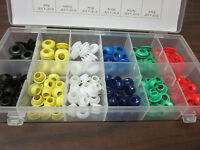 150pc Industrial Tool Multi Color Rubber Grommet Assortment Wiring Firewall