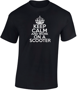 Keep calm and work on a Scooter Premium T-Shirt  Ideal Biker Birthday Gift