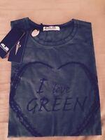 Cessare Paciotti 4usi Love Green Men Cotton T-shirt Shirt Top Xl Made In Italy
