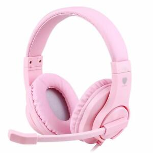 Details about Gaming Headset Girls Pink PS4 Xbox One 360 3DS Nintendo  Switch Windows PC Mac
