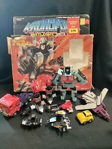 Large Lot Of Vintage 80's Transformers Takara Hasbro G1 Box + robots in disguise