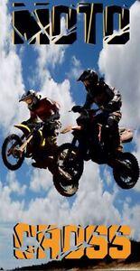 Serviette-Drap-de-plage-Moto-motocross-strandtuch-beach-towel-coton