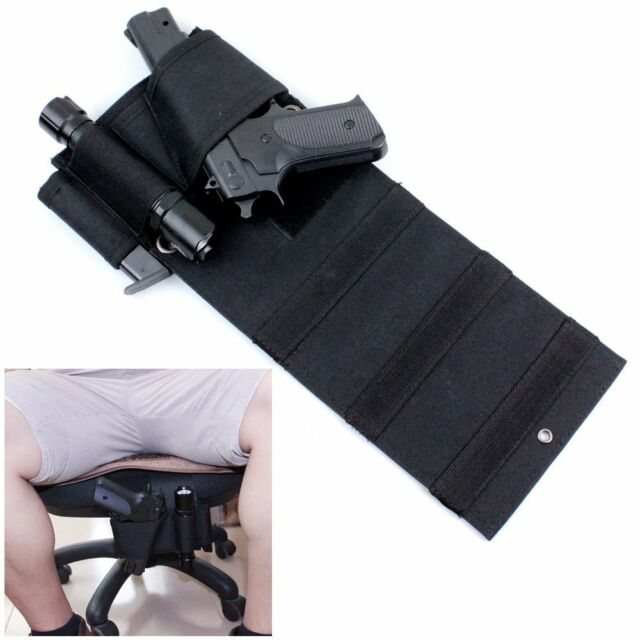 Tactical Under Mattress Bed Seat Desk Car Table Pistol Handgun Nylon Gun Holster