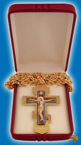 Orthodox-Pectoral-Engraved-Cross-Gold-Plated-Russian-Style-with-Enamel