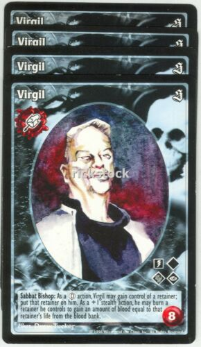 Virgil x4 Malkavian antitribu SE VTES Jyhad