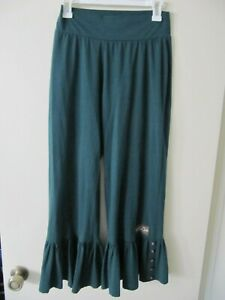 Matilda-Jane-womens-Big-Ruffle-Cropped-pants-Jasper-Green-sz-Medium
