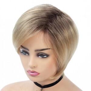 Fashion-Vogue-Women-Short-PIxie-Cut-Wig-Ombre-Blonde-Brown-Full-Hair-Wigs-Wavy