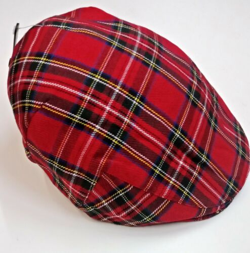 Unisex Tartan Check Baker Boy Caps Cappello da Strillone Cappello Country Stile Gatsby//Flat Cap