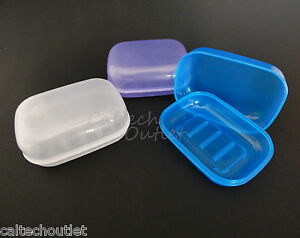 65e2f53cb522 Details about 3PC Soap Dispenser Dish Case Holder Container Box for  Bathroom Travel Carry Case