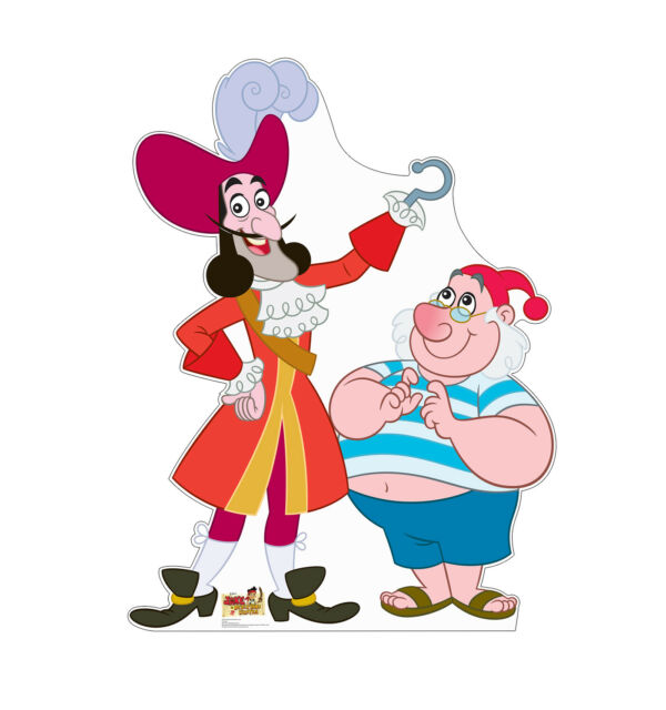 captain hook and mr smee lifesize cardboard cutout for