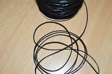 Lot de 10 mètres de cordon ciré polyester noir 1mm