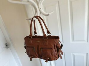 Handbag-Kangol-Pale-Brown-Colour-Good-Condition