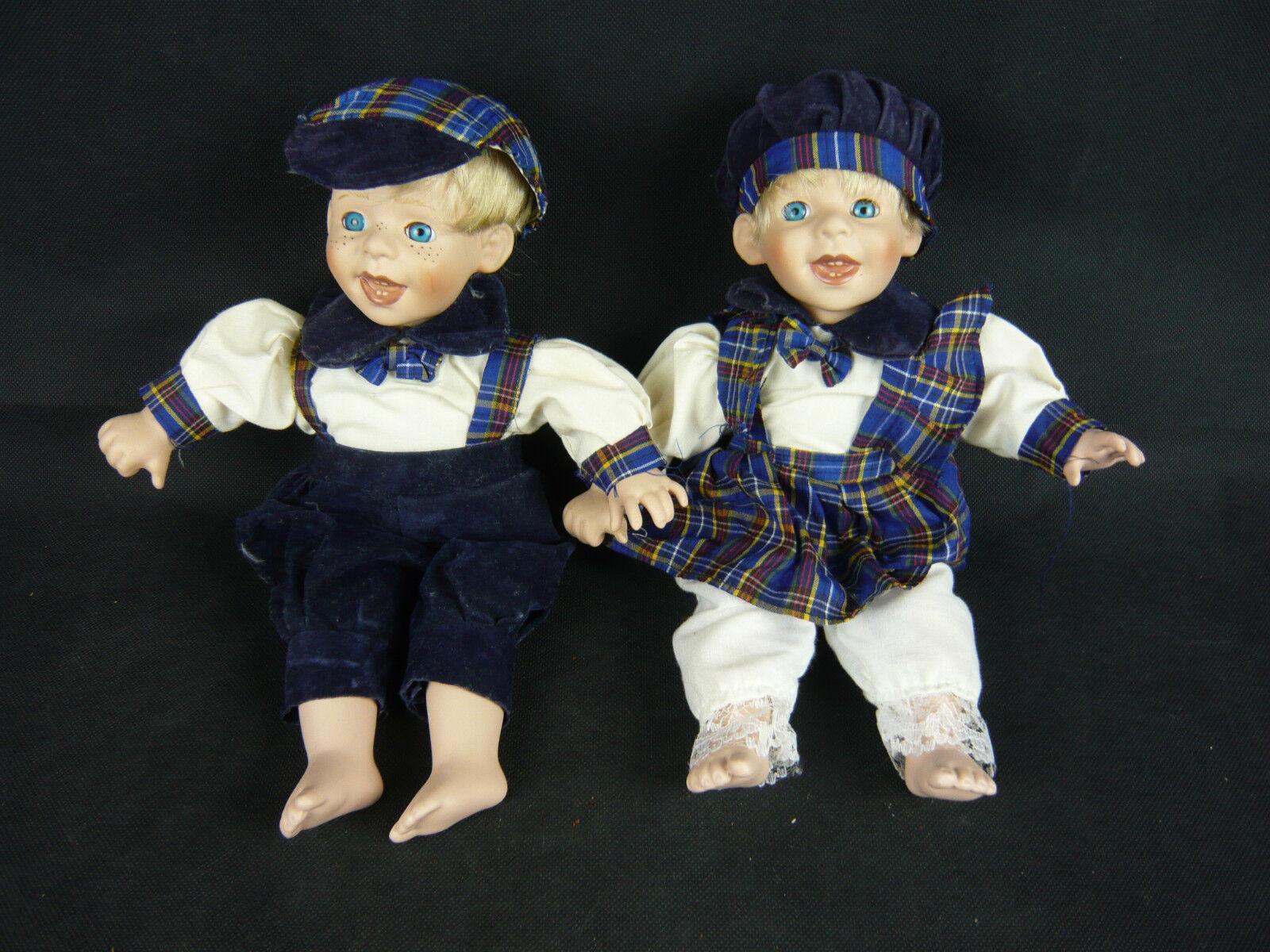 2 Bambole Bambole Bambole Porcellana da Collezione Bambole Ragazzo e Ragazza 9509 PORCELAIN bambolaS Boy Girl 5cd9ff